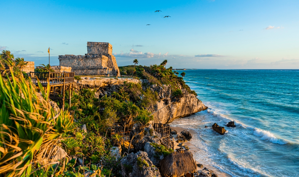 Mayan, ruins in Tulum, Mexico. Photo by Alberto-Lama.com